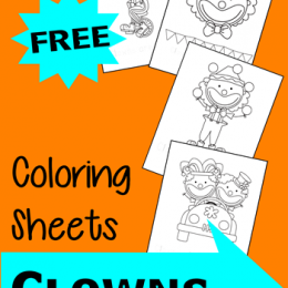 FREE Circus Clown Coloring Pages