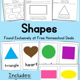 FREE Instant Download: My Book of Shapes and Coloring Posters