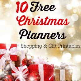 10 FREE Christmas Planners + Shopping & Gift Printables