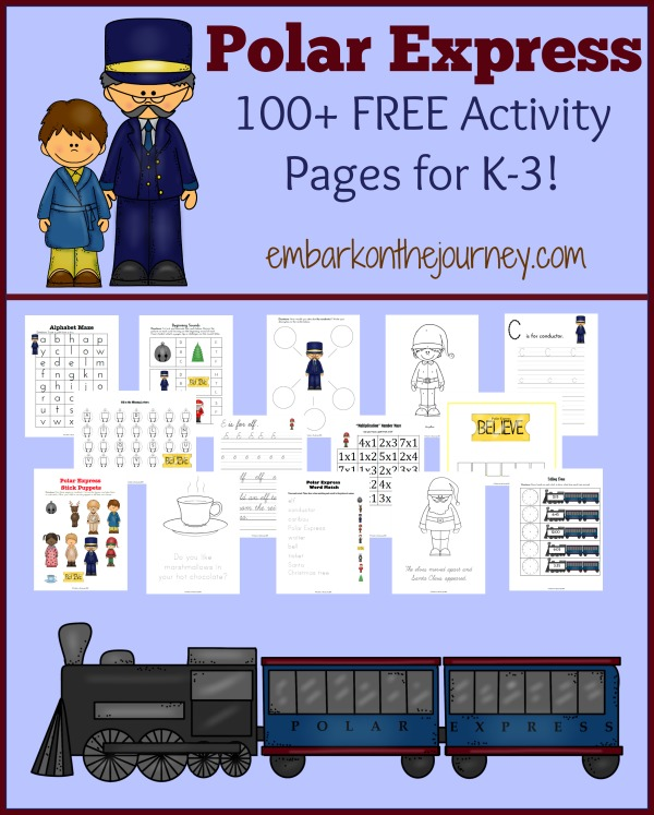 Polar Express Worksheets Kindergarten