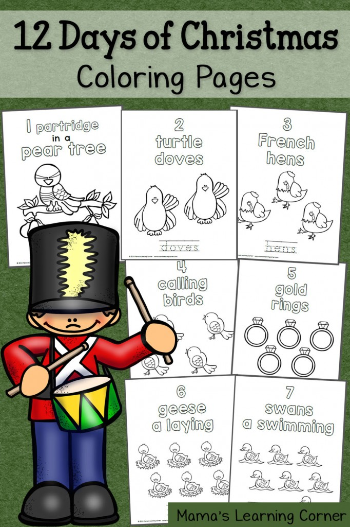 12 Days Of Christmas Coloring Pages Free | Coloring Pages