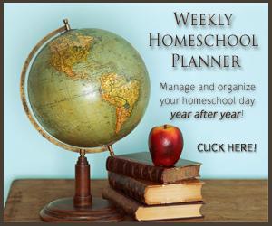 weekly homeschool planner sale
