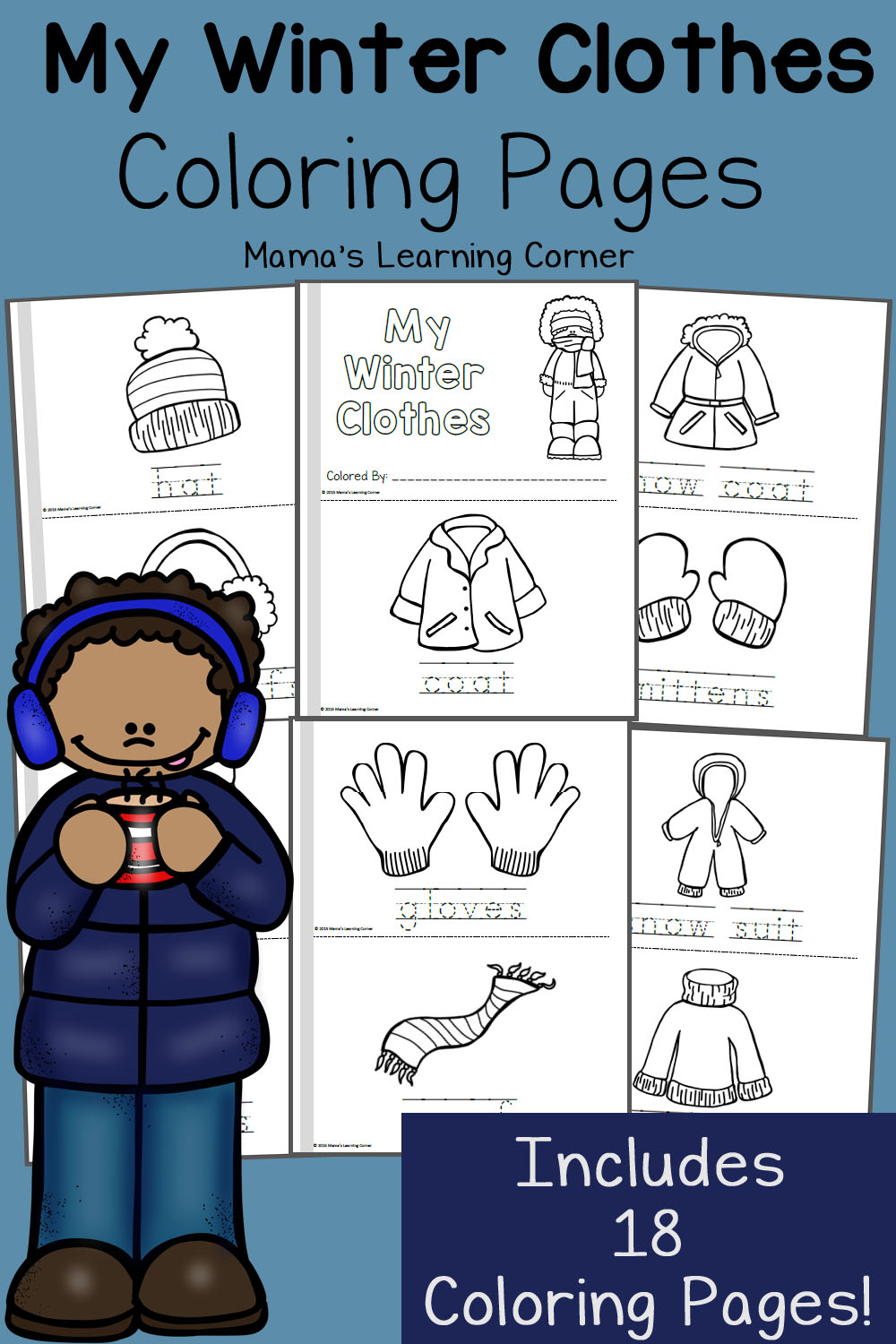 FREE Winter Themed Coloring Pages