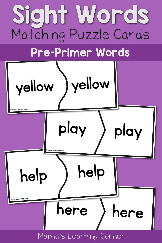 FREE Basic Sight Words for Kindergarten Printables