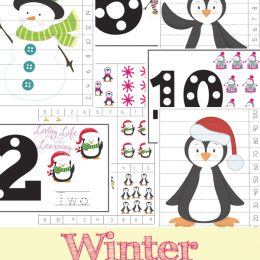 FREE Winter Themed Counting Mats