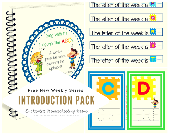 FREE Sing with Me Letter Pack