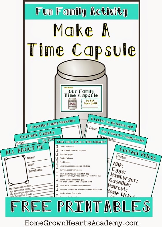 graphic relating to Time Capsule Printable Worksheets named No cost Produce a Period Capsule Printables