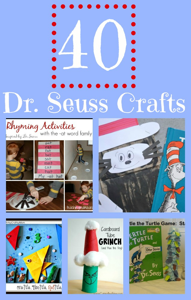 40 Fun Dr. Seuss Crafts including The Lorax, Cat in the Hat, + More!