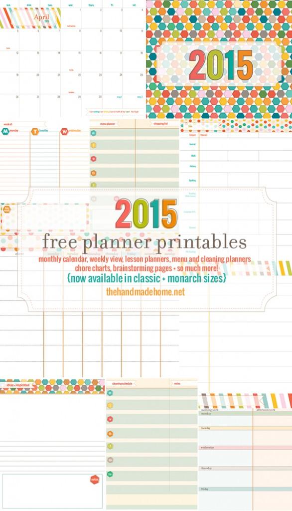free 2015 calendar and planning set