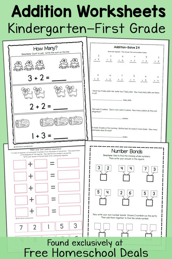 Addition Worksheets FHD Feb 2015 - Free Printable Worksheets For Kindergarten