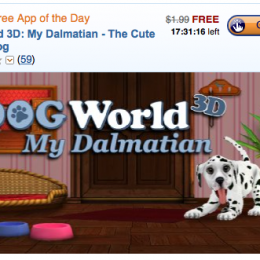 Today's Free Android App of the Day: DogWorld 3D My Dalmatian (save $1.99!)