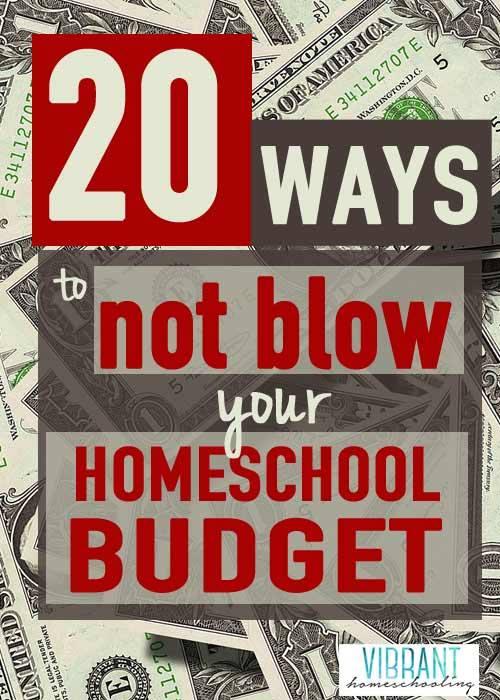 20 Ways to NOT BLOW Your Homeschool Budget
