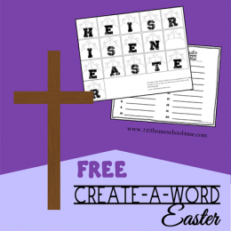 FREE EASTER CREATE-A-WORD (instant download)