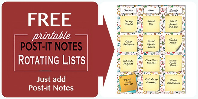 picture regarding Printable Post Its called Absolutely free Report-it Notes Rotating Printables