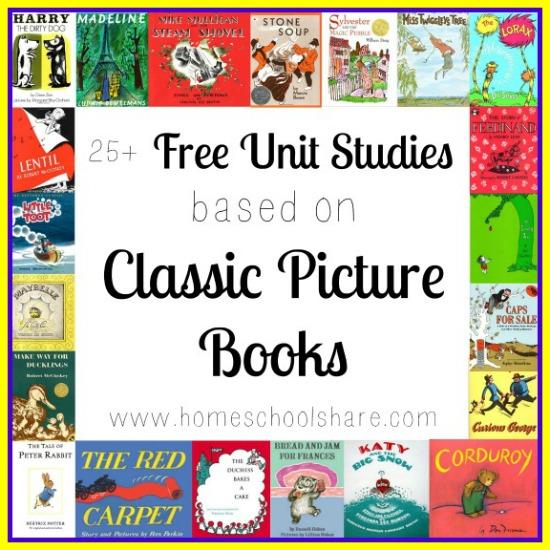 FREE Classic Picture Books Unit Studies {25+!}