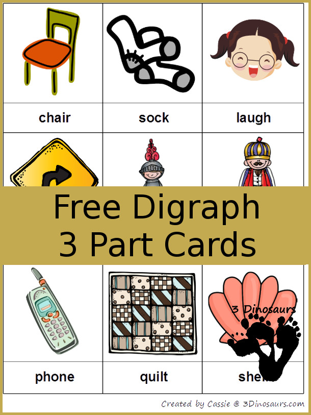 FREE Digraph Cards