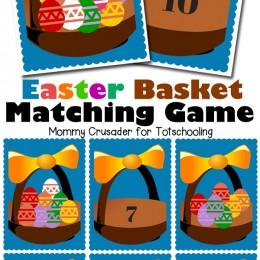 FREE Easter Themed Preschool Math Game