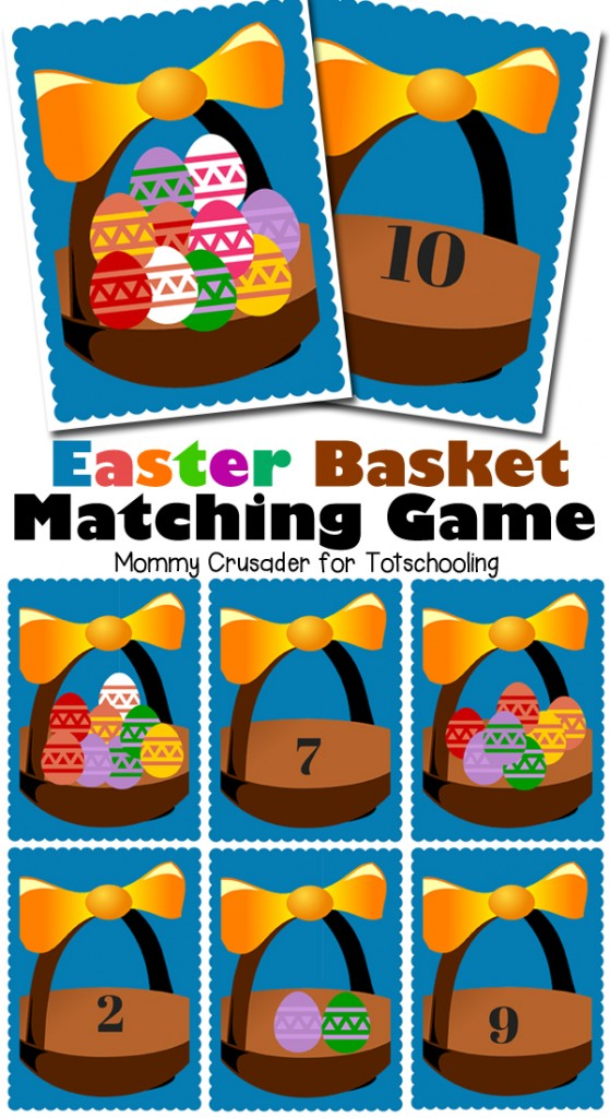 FREE Easter Themed Preschool Math Game