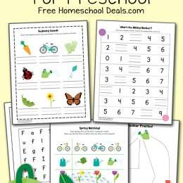 FREE SPRING PRINTABLES PACK FOR PRESCHOOL (instant download)