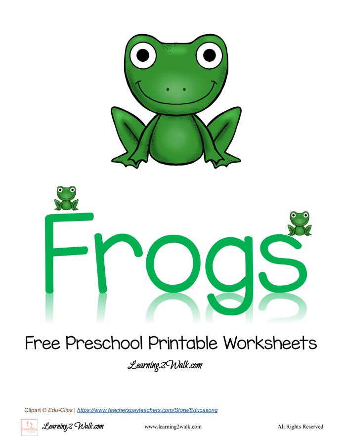 FREE Preschool Frog Worksheets Pack