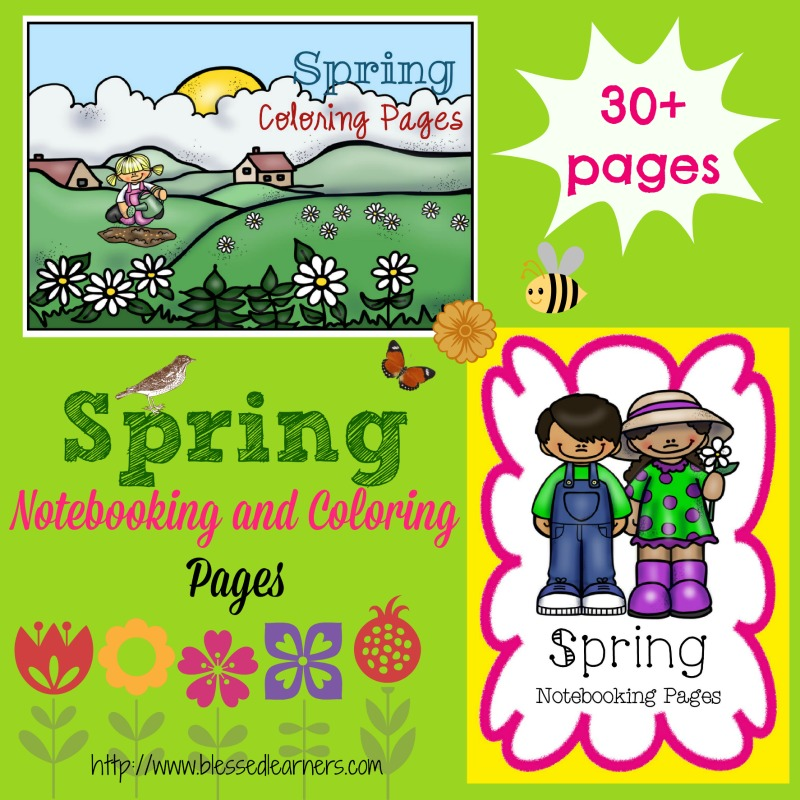 FREE Spring Notebooking and Coloring Pages {30+ Pages!}