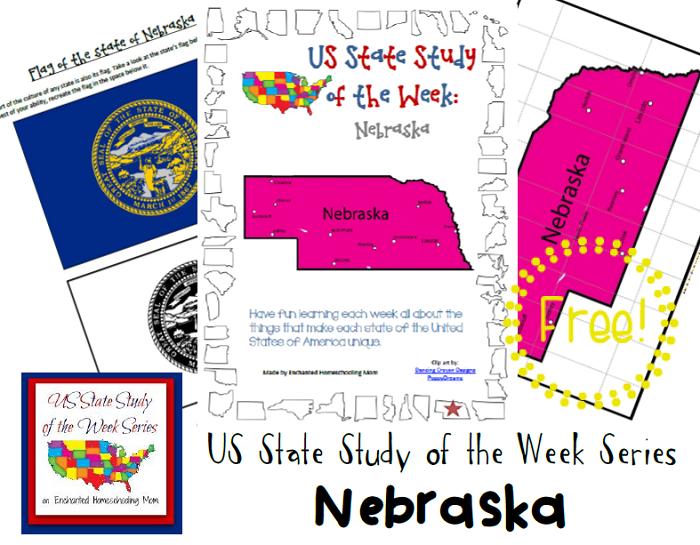 FREE Nebraska State Study Notebook