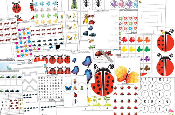FREE Insect printables pack