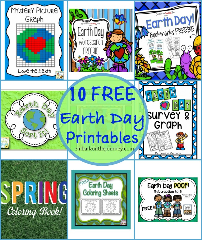 FREE: 10 Earth Day Printables Packs