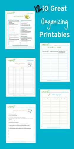 FREE Organizing Printables Pack