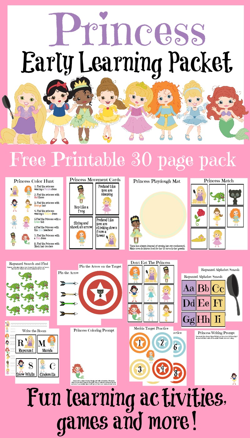 FREE 30 Page Princess Learning Pack