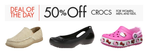 50% Off Crocs for the Family - Today Only!