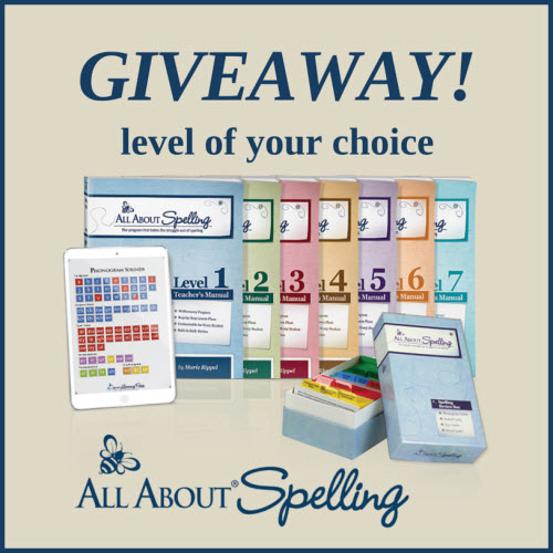 All About Spelling Giveaway - Level of Your Choice!