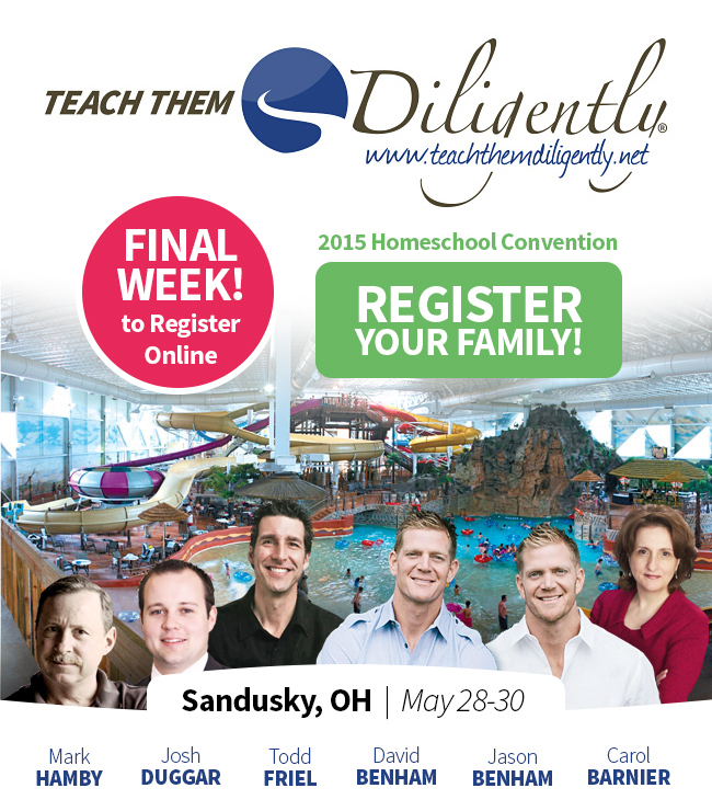 $10 Off Teach Them Diligently Registration & Last Week to Register!  (Sandusky, OH)