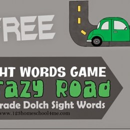 FREE Crazy Roads Sight Word Game using 1st grade dolch sight words!