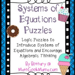 FREE Systems of Equations Puzzles