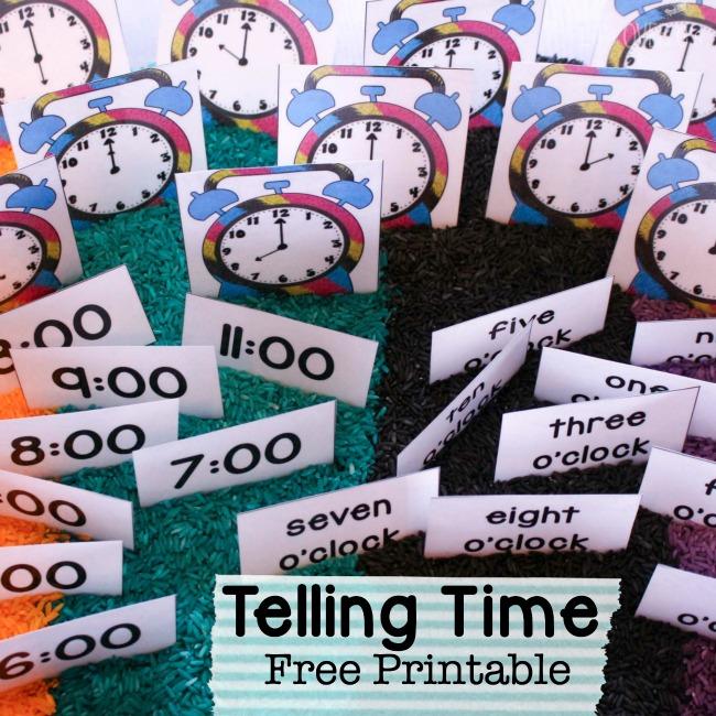 FREE Telling Time Printables