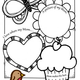 FREE Preschoolers Mother's Day Card printable