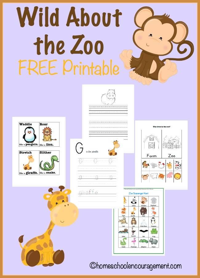 Free Zoo Printables Pack