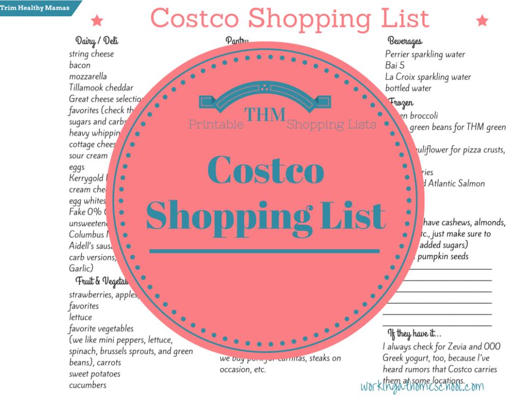 FREE Costco Shopping List
