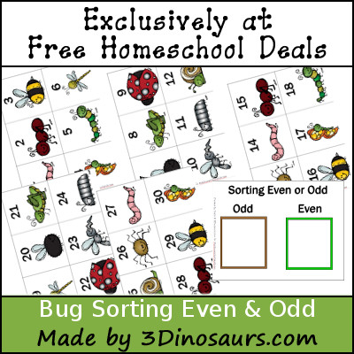 FREE Bug Sorting Odd and Evens pack