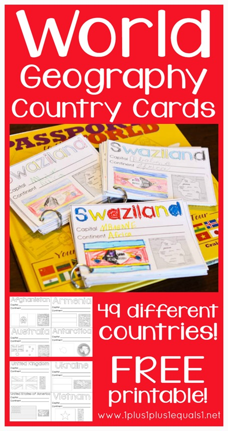 FREE Geography Cards