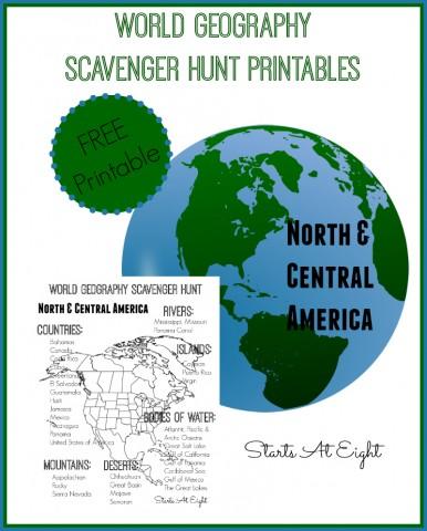FREE Scavenger Hunt Geography