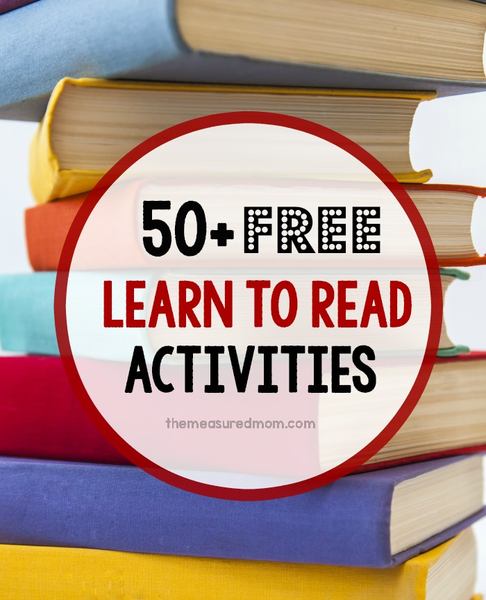 50+ Learn to Read Activities