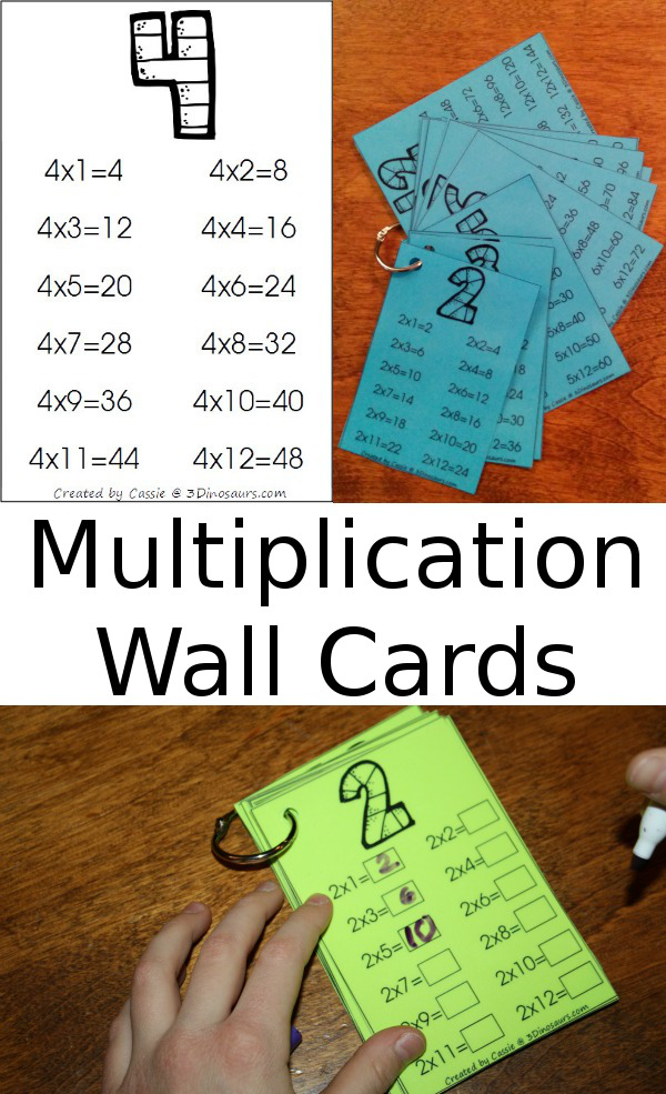 FREE Multiplication Wall Cards