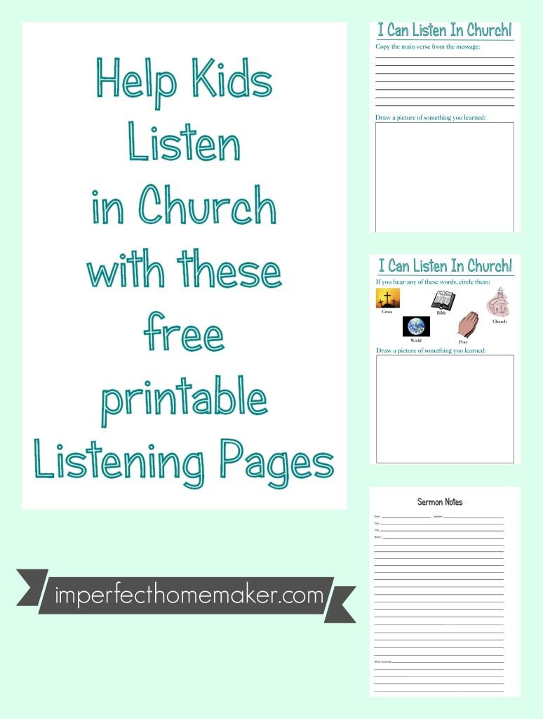 FREE kids Church Printables