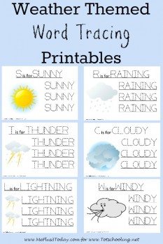 FREE Weather Tracing Printables