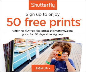 50 Free Prints for New Shutterfly Members!