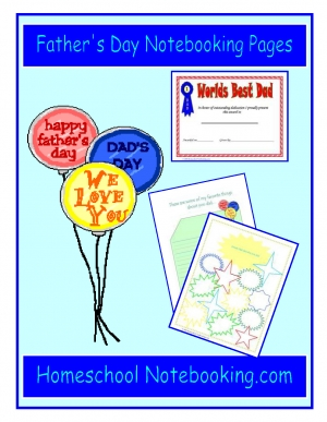 Free Father's Day Notebooking Pages