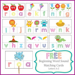 FREE Beginning Sounds Printable Pack