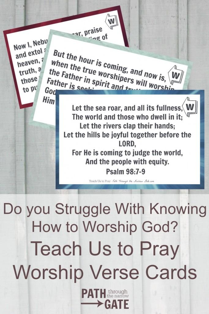 FREE Worship Verse Prayer Cards